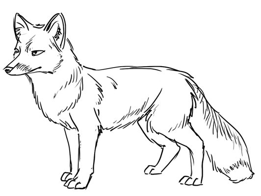 Free Fox Clipart Black And White, Download Free Clip Art