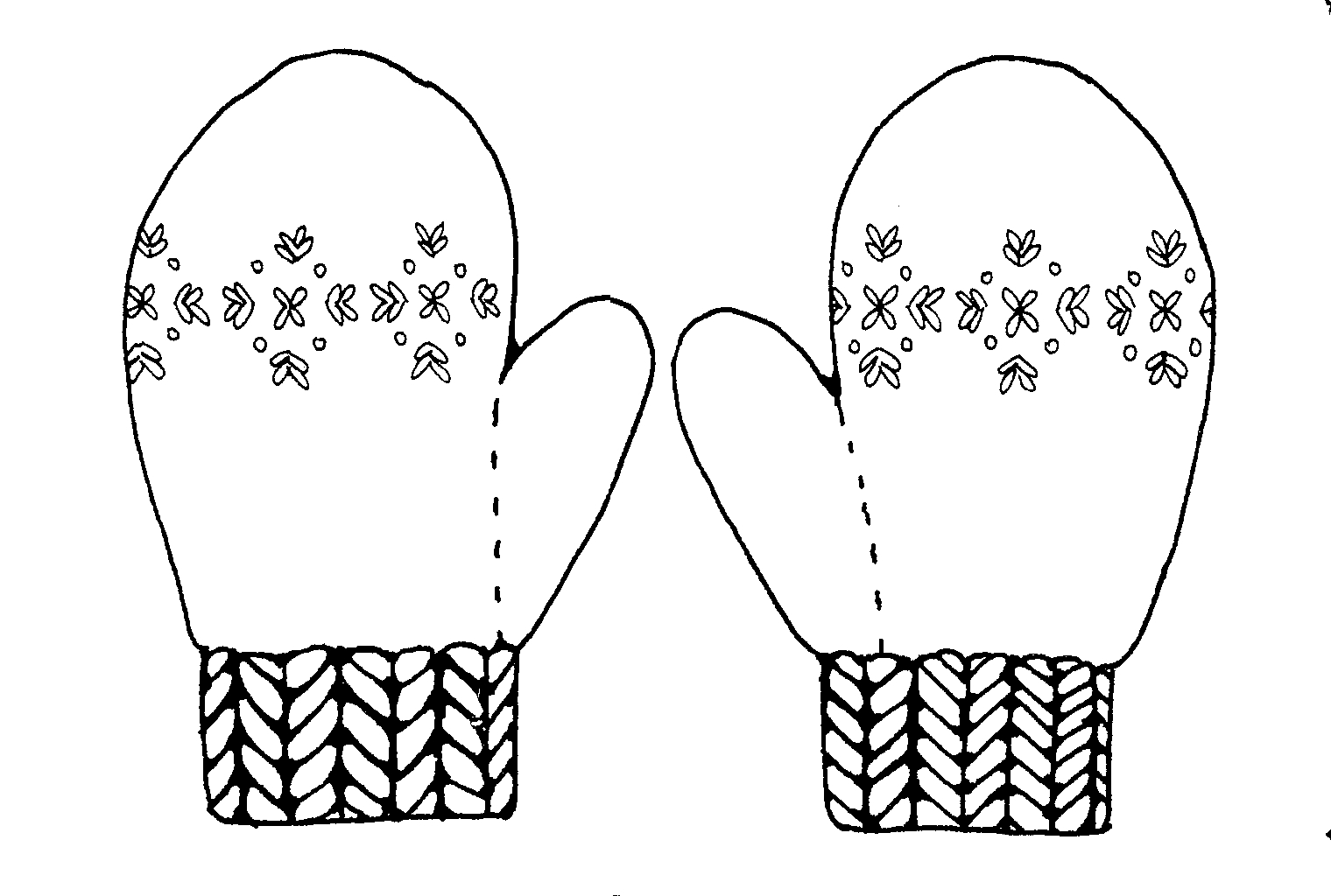 Free Mittens Clipart Black And White, Download Free Clip