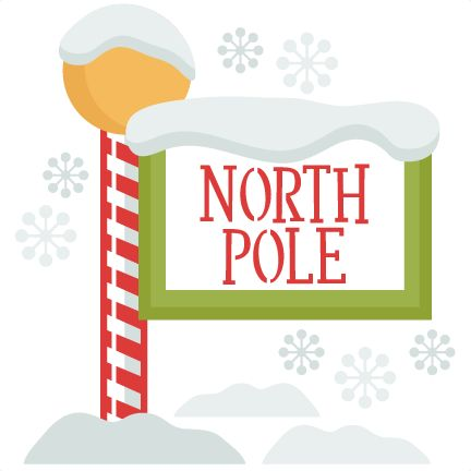 Christmas North Pole Sign SVG Clip Art Library