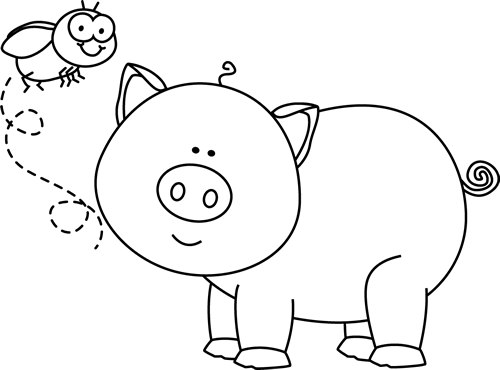Free Pig Clipart Black And White Download Free Clip Art