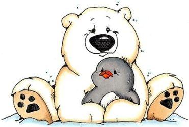 polar bear clipart clip animals bears cute hug penguin christmas snapper whipper stamps penguins ike drawing rubber animal designs winter