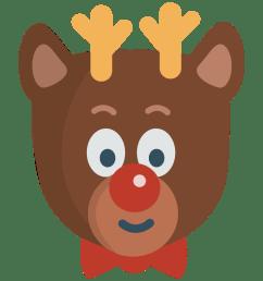reindeer reindeer clipart [ 1000 x 1000 Pixel ]