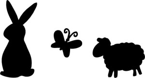 silhouette easter silhouettes bunny animal rabbit clip simple clipart happy designs cliparts cartoon place animaux clipartbest library animals getdrawings vector