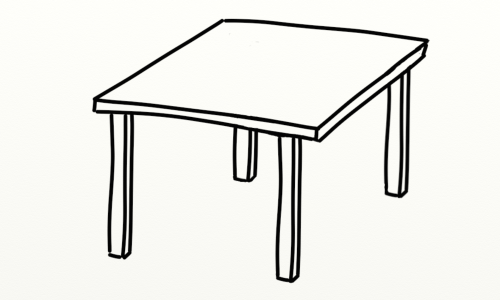 small resolution of table clipart black and white