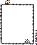 Train Background Vector Clip art