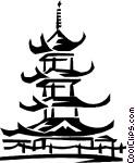 Asian temple Vector Clip art