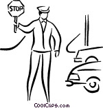 crossing guard Vector Clip art