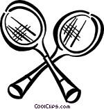 Badminton rackets Vector Clip art