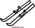 cross country skis Vector Clip art