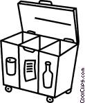 Recycle bin Vector Clip art