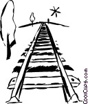 Train tracks Vector Clip art