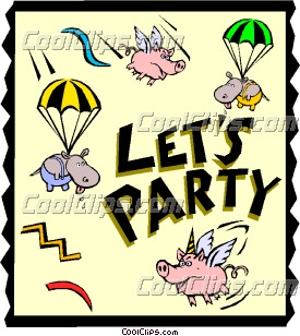 Let's Party Clip Art