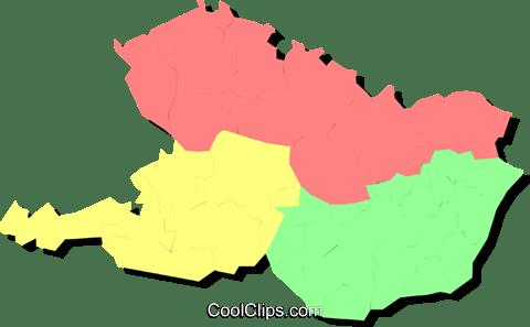 Austria Hungary and Czechoslovakia Royalty Free Vector