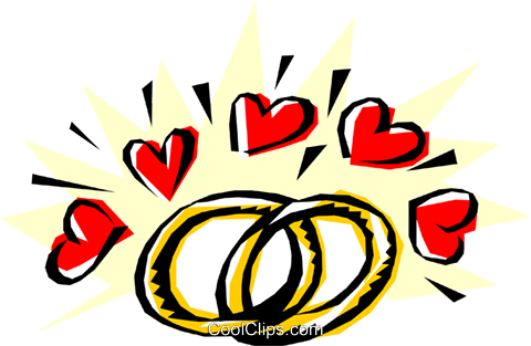 Trauringe mit Herz Vektor Clipart Bild even0016CoolCLIPScom