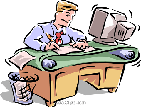 busy office royalty free vector