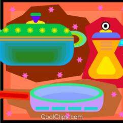 Kitchen Pots And Pans Kmart 厨房锅碗瓢盆免版税矢量剪贴画插图 Vc007095 Coolclips Com