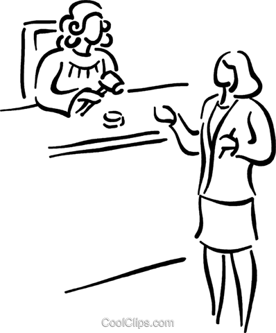 lawyer presenting her case Royalty Free Vector Clip Art