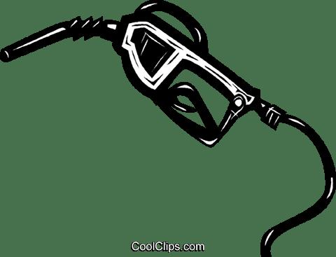 gasoline pump nozzle Royalty Free Vector Clip Art