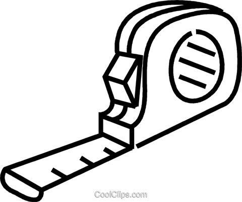 tape measure Royalty Free Vector Clip Art illustration