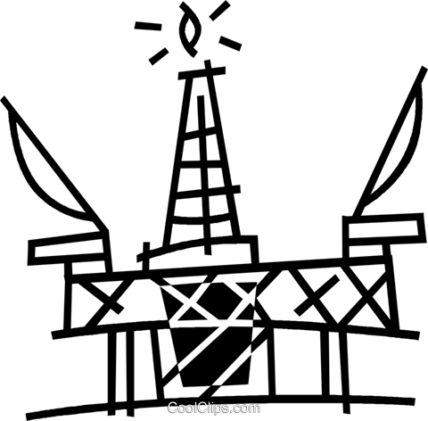 plataforma de perfuração offshore livre de direitos