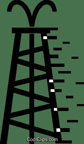 Oil Wells Royalty Free Vector Clip Art illustration