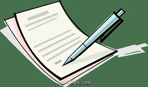 contract royalty free vector clip