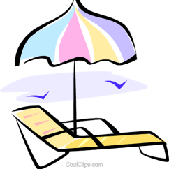 Beach Chair And Umbrella Clipart Fisher Price Toddler Table Chairs Royalty Free Vector Clip Art Illustration