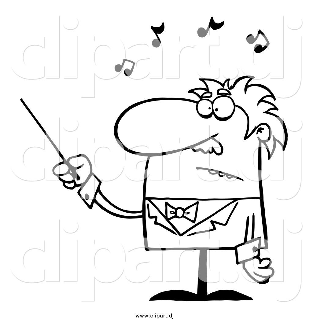 Cartoon Vector Clipart Of A Black And White Senior