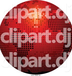 vector clipart of a 3d red sparkling disco ball globe [ 1024 x 1044 Pixel ]