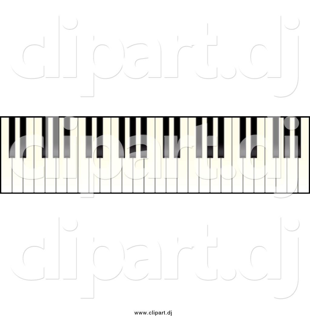 Vector Clipart Of A Piano Keyboard By Michaeltravers