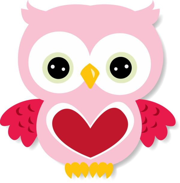 valentine owl clipart