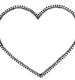 heart clipart black and white free [ 1256 x 1081 Pixel ]
