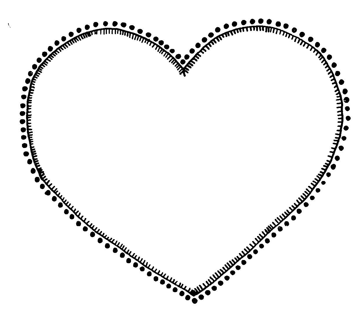 hight resolution of heart clipart black and white free