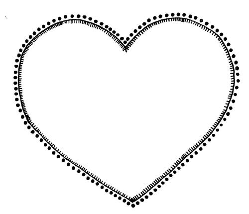 small resolution of heart clipart black and white free