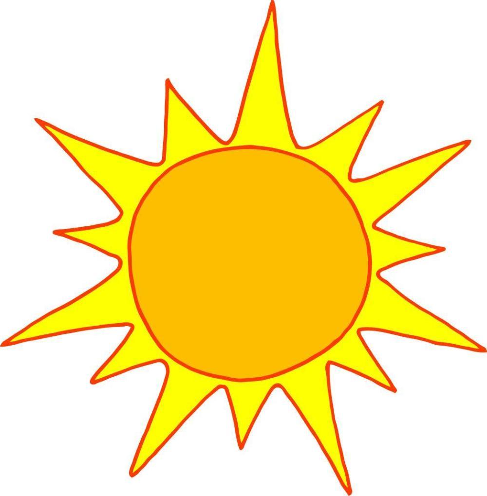 medium resolution of sun clipart image