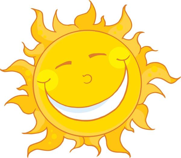 sunshine happy sun clipart