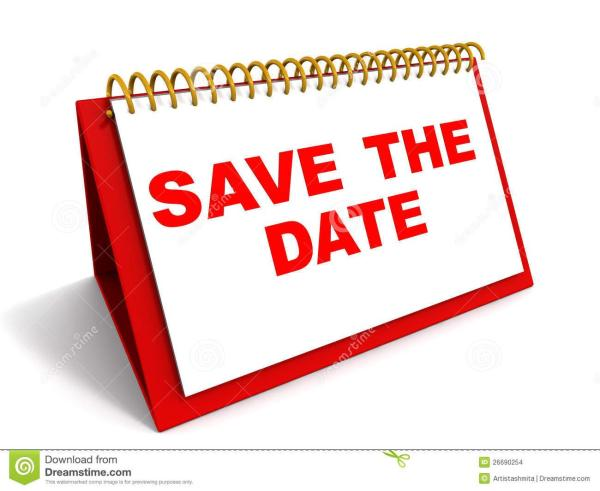 words save date calender
