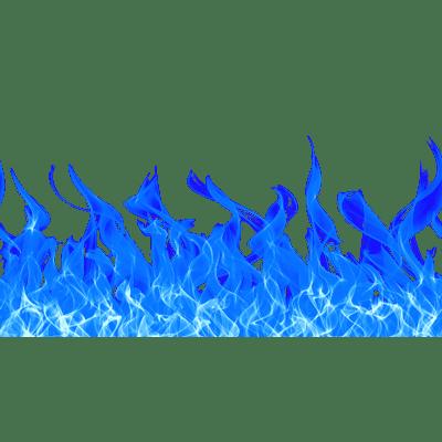 Blue Fire Footer Png Transparent