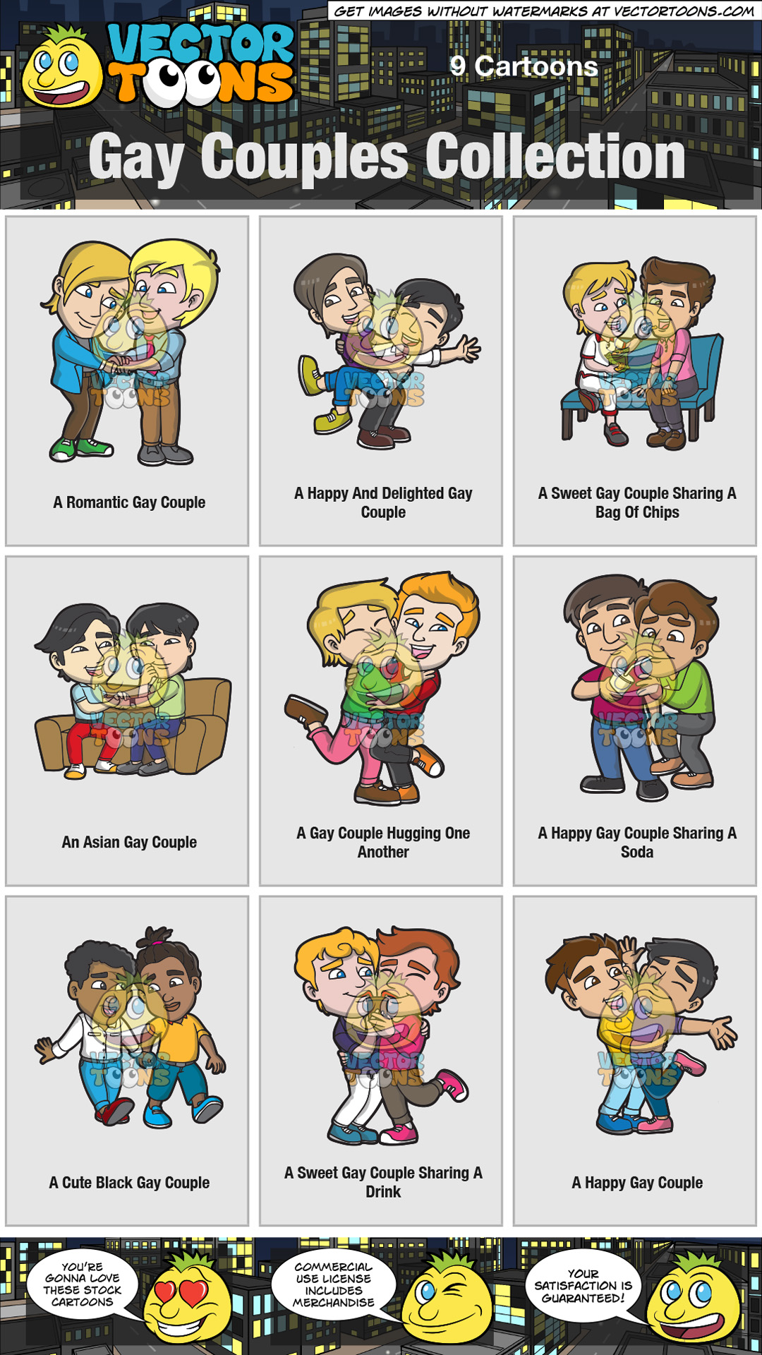 hight resolution of gay couples collection