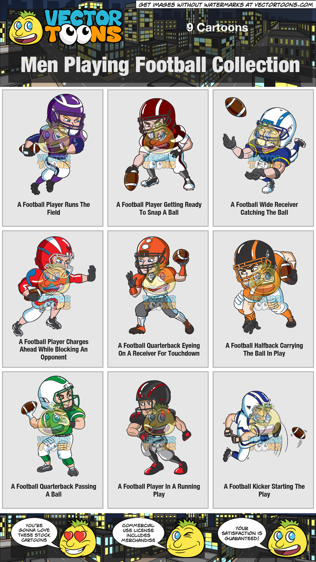 hight resolution of clipart football player