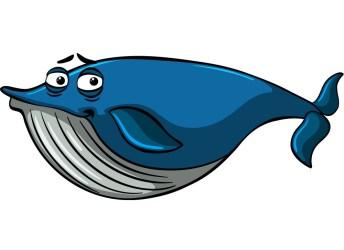 cartoon sleepy blue whale Clipart World
