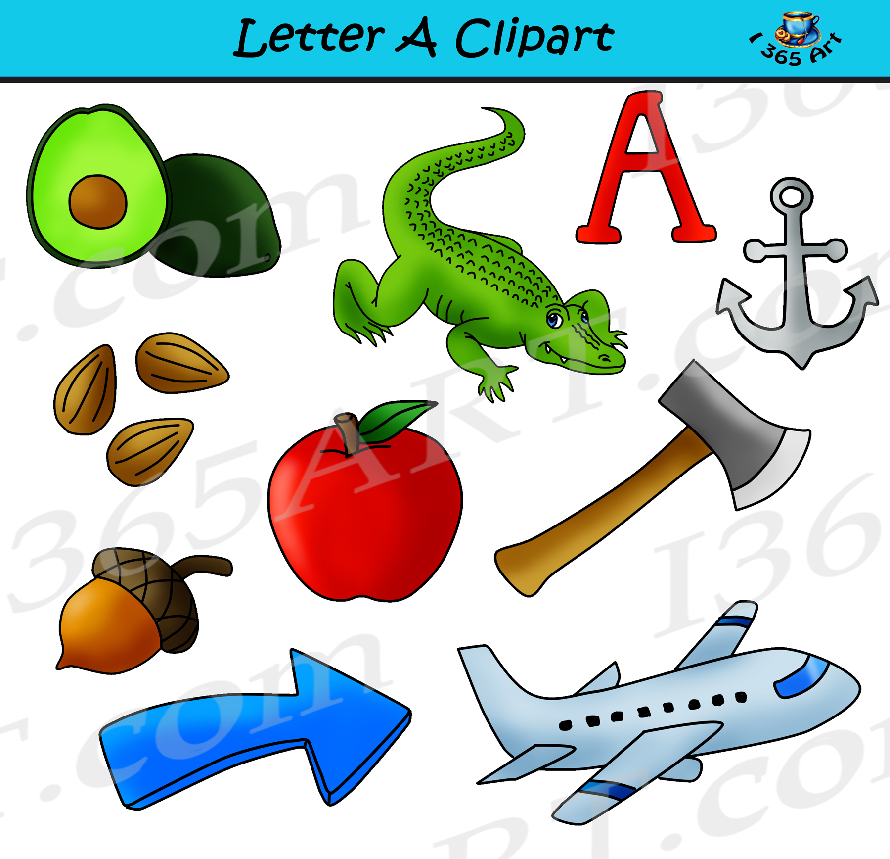 hight resolution of letter a objects clipart
