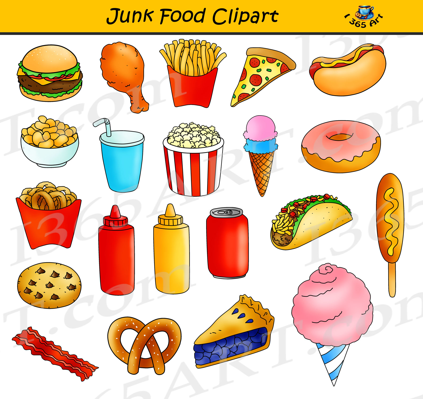 Junk Food Clipart Fast Food Graphics Commercial Use Clipart 4 School