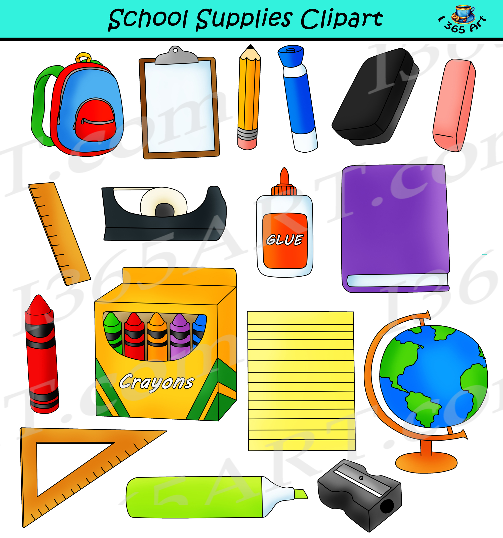 School Supplies Clipart Back To School Commercial