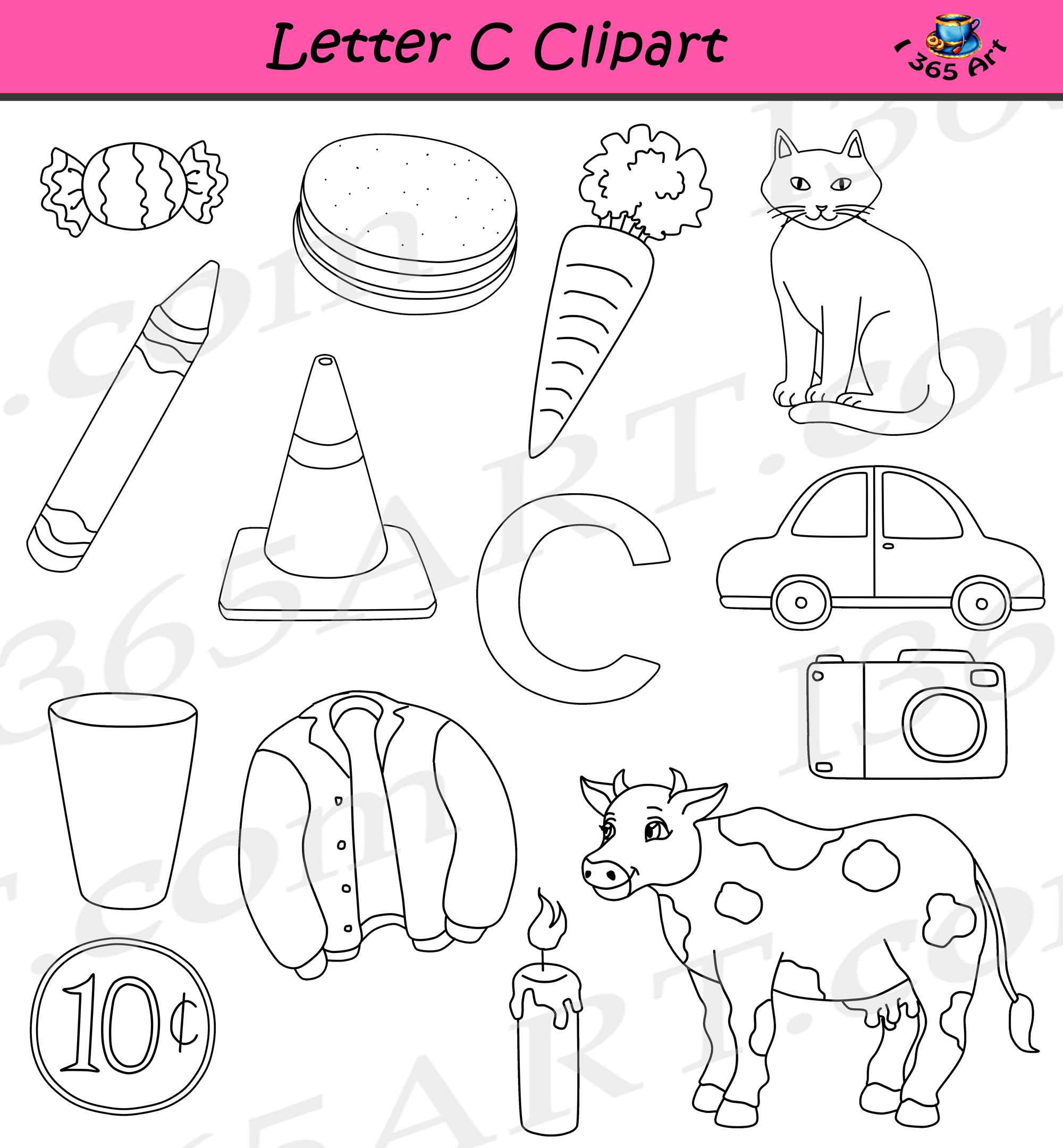 Letter C Clipart Commercial Use