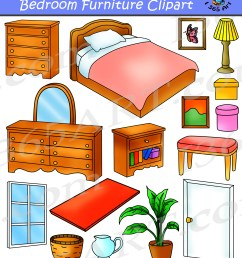 bedroom clipart home furniture graphics commercial [ 1800 x 2027 Pixel ]
