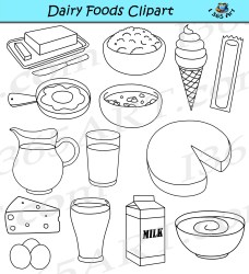dairy clipart graphics foods milk food commercial preview