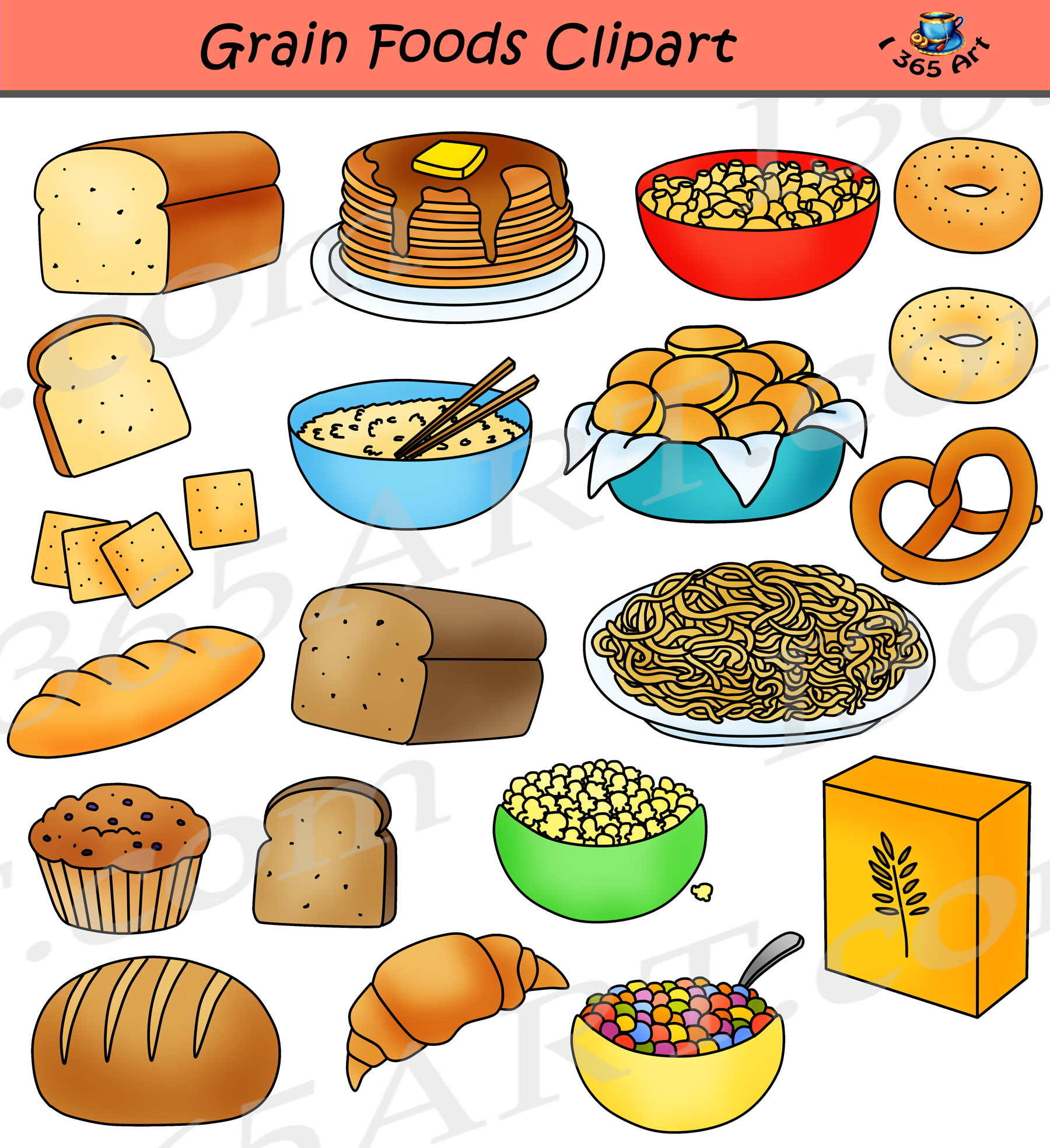 Grains Clipart Breads Food Group