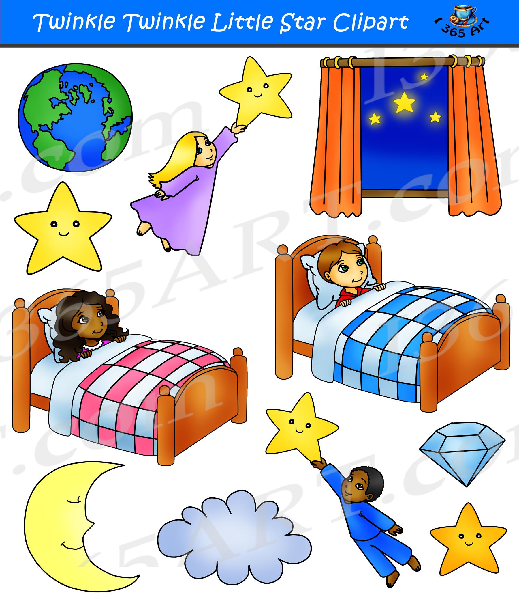 Twinkle Twinkle Little Star Clipart Set