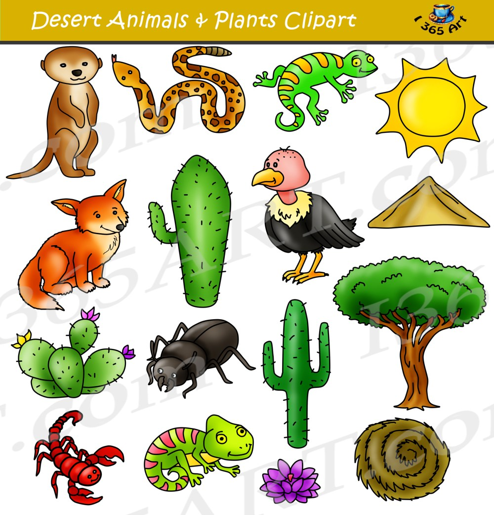 medium resolution of desert clipart set desert animals terrain